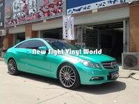 Premium Matte Satin Metallic Tiffany Blue Film Satin Metal Tiffany Blue Vinyl Air Release Car Wraps