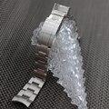 Correas de reloj de 20mm de acero inoxidable cepillado plata pulsera hombres reloj venda de reloj de metal extremo curvo para rolex 116610lv-97