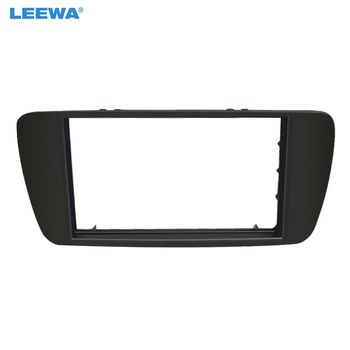 LEEWA Dell'automobile 2DIN Refitting CD DVD Radio Fascia Telaio per SEAT IBIZA Stereo Dash Face Plate Frame Panel Mount Kit # CA5227