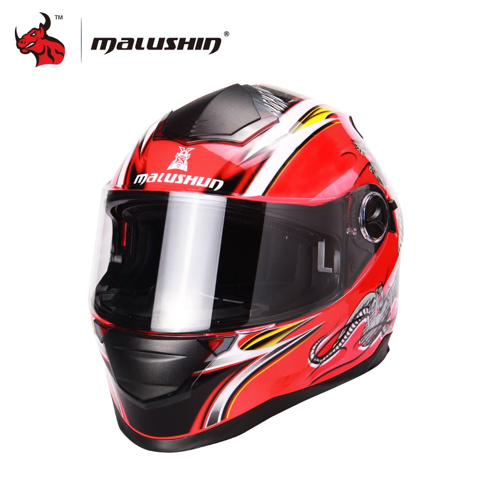 MALUSHUN Dragon Printing Motorcycle Helmet Flip Upmotorbike helmet Full Face Racing Helmets Capacete De Moto 6 color lexin 2pcs max2 motorcycle bluetooth helmet intercommunicador wireless bt moto waterproof interphone intercom headsets
