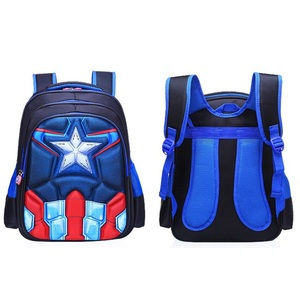 Image 2 - Childrens Backpack Boys Captain America School Bags For Boys Girls Children Primary Students Superhero Backpacks 4 Styles