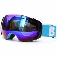 Benice Brand Men Women Ski Goggles Double Lens UV400 Anti Fog Ski Mask Glasses Skiing Eyewear