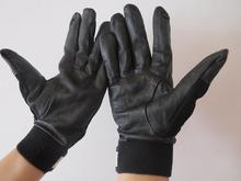 Free transport 2 pairs of Color black cow grain real leather-based security defending gloves strengthened palm elastic cuff