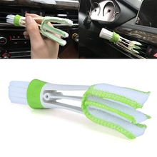 Double Head Keyboard Clean Brush Car Indoor Air-condition Outlet Cleaning Tool for Car Motorcycle Clean Tools multifuctional double headed car air outlet cleaning brush