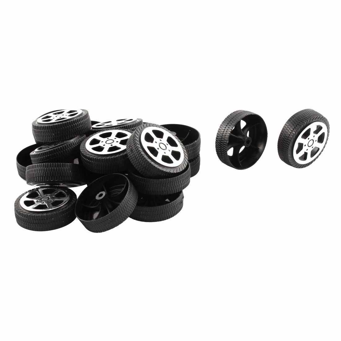 Plastic Roll 2mm Dia Shaft Auto Vrachtwagen Model Speelgoed Wiel 30mm x 9mm 20Pcs