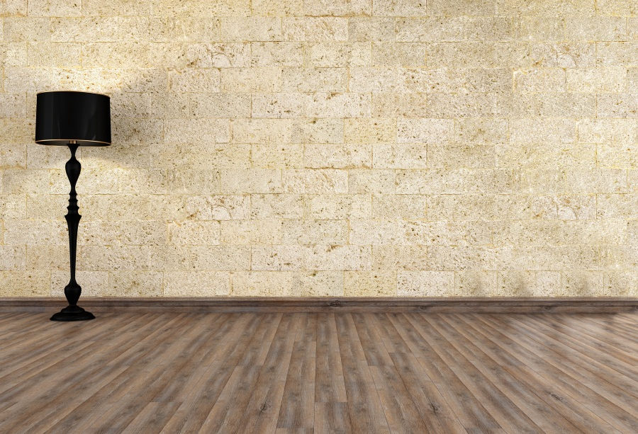 Laeacco Simple Brick Wall Lamp Wooden Floor Scene Photography Backgrounds Vinyl Custom Photographic Backdrops For Photo Studio