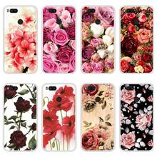Case Cover For Xiaomi Mi A1 Soft Silicone TPU Floral Flower Pattern Painting Coque For Xiaomi MiA1 Mi A 1 Phone Case(China)