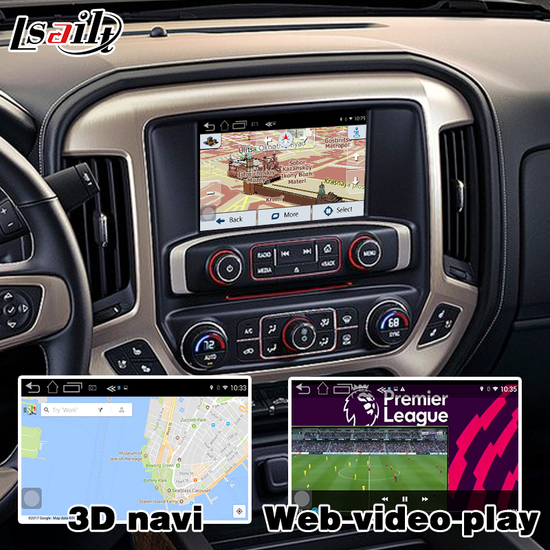 US $550 0 |Android navigation box for GMC Sierra 2014 2017 etc video  interface Mylink intellilink CUE system GPS with Carplay-in Vehicle GPS  from