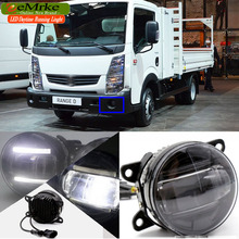 eeMrke Car Styling Led DRL For Renault Maxity 2006 up 2 in 1 LED Fog Light