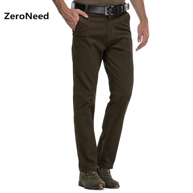 Slim Fit Reta Calças Compridas de Carga Calças de Trabalho Masculinos Calças Ao Ar Livre Montanha Nova Marca Verde Algodão Casual Pantalones Hombre 4