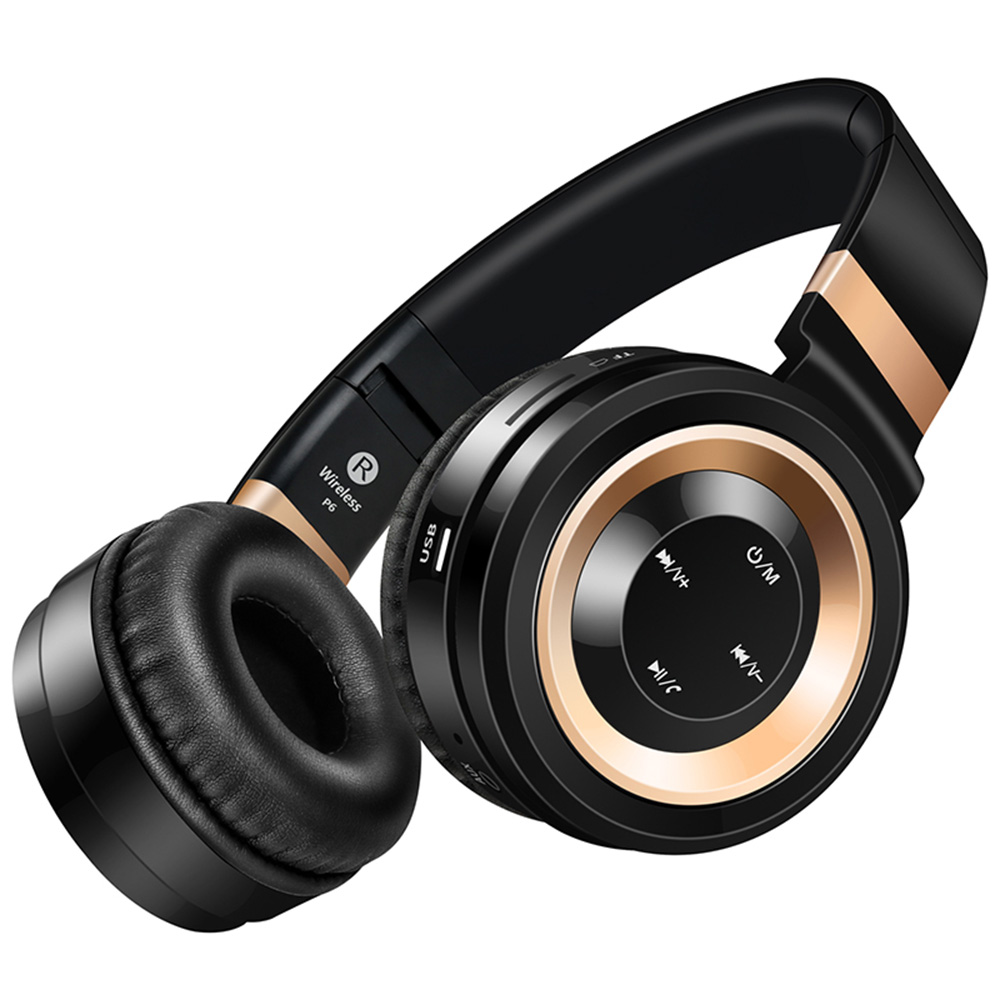 Sound Intone P6 Bluetooth font b Headphones b font Wireless with Mic Support TF Card Over