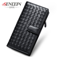 Sendefn Ladies As Genuine Leather Wallet Lamb Clutch Wallet Long Chess Card Holder Female Zipper Bags