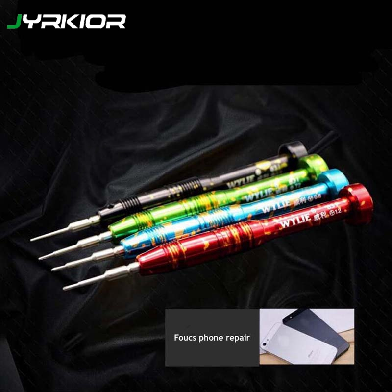 Jyrkior Aluminum Alloy Screwdriver Phone Repair Tool Hand Disassembly Maintenance Tool For iPhone Samsung Repair Tool Kit Set
