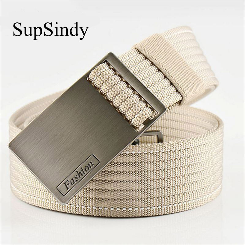 SupSindy men's   belt   metal buckle military Nylon canvas   belt   men luxury punk Army tactical   belts   for women Top quality male strap