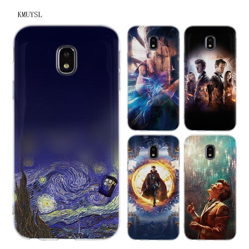 KMUYSL Tardis Box Doctor Who DW TPU Transparent Soft Case Cover for Samsung Galaxy J5 J7 J3 2016 2017
