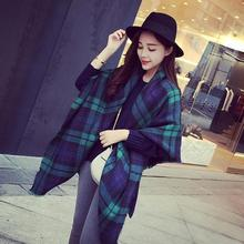 Echarpe Elegant Lady Blanket Oversized Tartan Scarf Women Fashion Plaid Printed Long Wrap Shawls Checked Scarves SUNSHINE