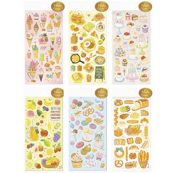 DIY Colorful Sweet food kawaii Stickers Diary Planner Journal Note Diary Paper Scrapbooking Albums PhotoTag image