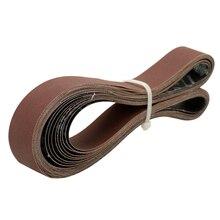 10 pièces bandes abrasives abrasives 400 grain 762*25mm pour ceinture électrique ponceuses banc meuleuse meulage outil de polissage