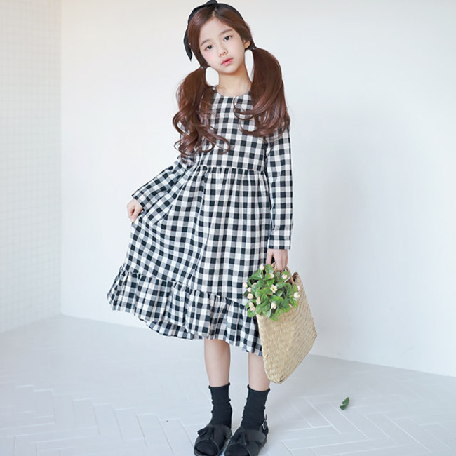 2018 New Baby Spring Dress Brand Girls Plaid Dress Fashion Children Dress Toddler Cotton Dress Parent-child Clothes,2636 children s spring and autumn girls bow plaid child children s cotton long sleeved dress baby girl clothes 2 3 4 5 6 7 years