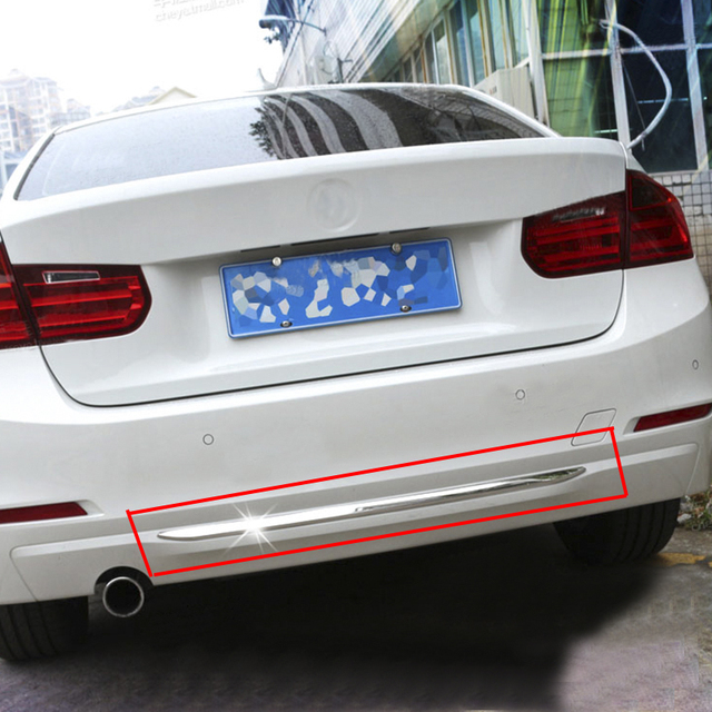 Stainless Steel Rear BUMPER GUARD Dec Cover Trim For BMW 3 Series F30 2013 2015