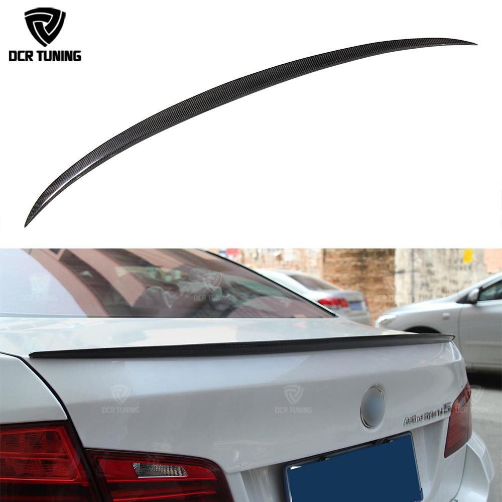 M5 Style Rear Wing Spoiler For BMW 5 SERIES F10 M5 Spoiler 520i 528i 535i 530i 525i Carbon Fiber 2010 - ON wljh 19x white canbus dome footwell trunk lighting bulb led car interior light kit for bmw f10 5 series 2010 550i 535i 528i m5