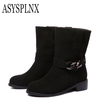ASYSPLNX 2017 Winter Boots With Thick Leather Boots In The Two In One Women S Boots