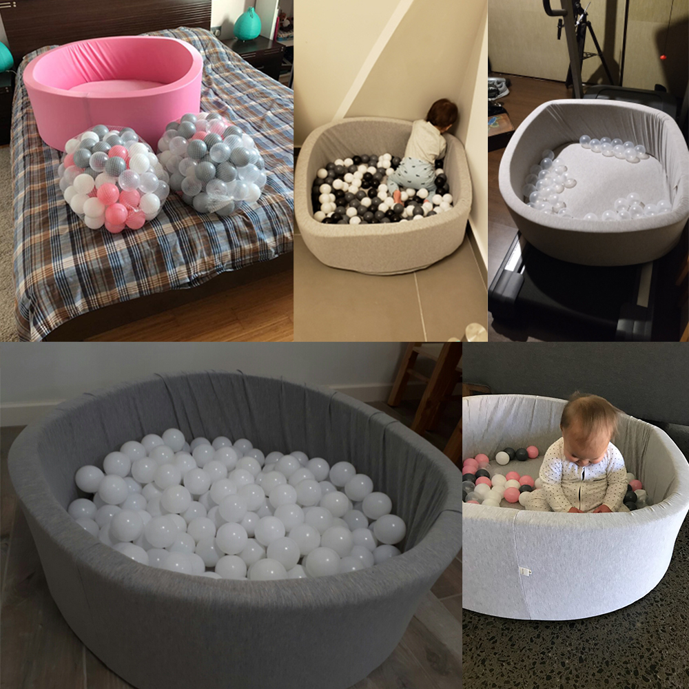 Bébé piscine sèche escrime Manege tente gris rose bleu boule ronde piscine Pit parc sans balle jeu jouets pour enfants cadeau d'anniversaire - 5