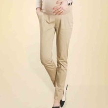 Good quality Maternity clothing 100% cotton pencil skinny pants autumn belly pants maternity career pants casual trousers