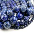 4-12mm Round Blue Lapis Lazuli Beads Dyed Lapis Lazuli Stone Beads DIY Loose Beads For Jewelry Making Strand 15 Inches