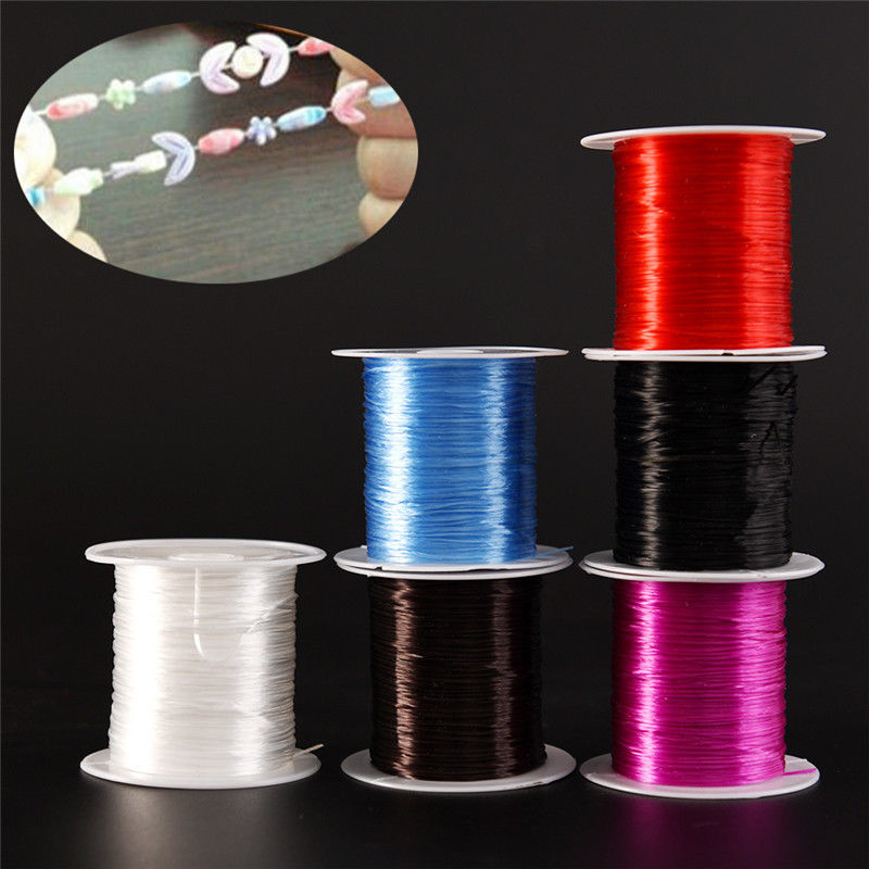 1.0mm  Strong Stretchy Elastic Crystal String Beading Cord Wire Thread Rope For DIY Bracelets Necklace Making Jewelry Findings
