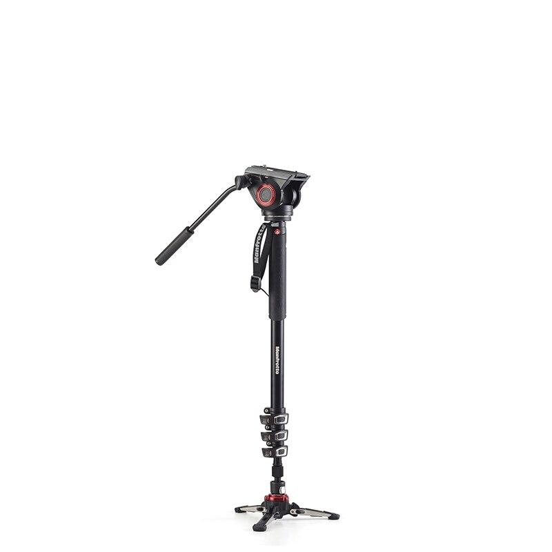 Manfrotto XPRO Monopode Quatre-Section En Aluminium Fluide Tête Vidéo Professionnel Appareil Photo Numérique Trépied Kit Portable Manfrotto Pour REFLEX