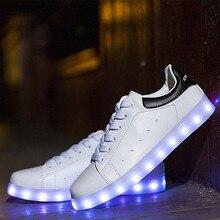 2017 NEW LED Luminous Shoes Woman Light up Lumineuse USB Basket Femme Women&Men Led Shoes Stars Series Casual light Shoes Glow
