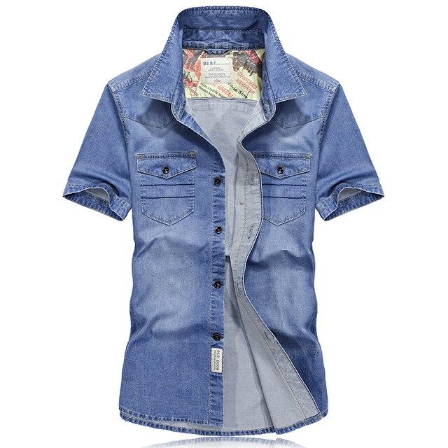 97ff676441 2017-Summer-style-manches-courtes-chemise-en-jean-hommes-chemise-homme -haute-qualit-mens-chemise-d.jpg_640x640.jpg