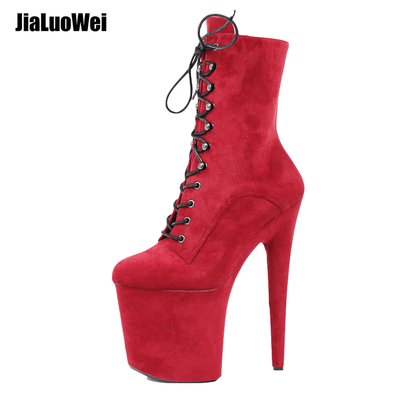 36#-43#Top Totty New Design Sexy Extreme Heel Shoes erotic lap dancing ankle boots