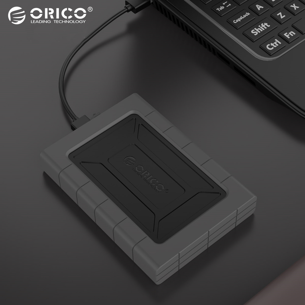 ORICO Black 2TB HDD 2.5 inch USB3.0 Three-proofing Hard Drive Tool Free External Enclosure High-Speed Case for SSD HDD SATA III ugreen hdd enclosure sata to usb 3 0 hdd case tool free for 7 9 5mm 2 5 inch sata ssd up to 6tb hard disk box external hdd case