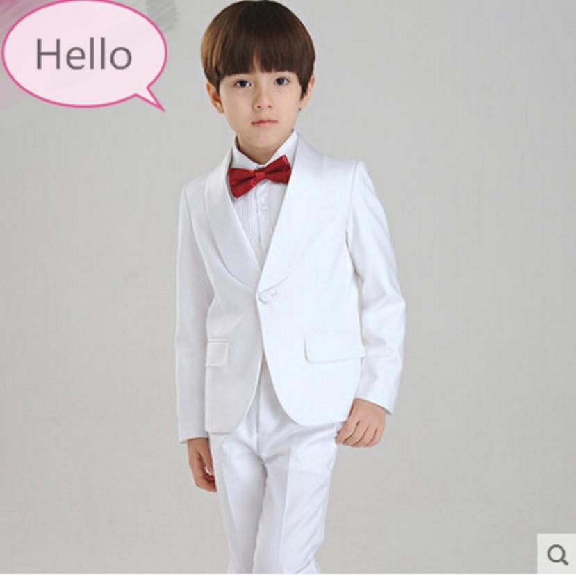 Fashion kids baby boy blazers suit formal black white clothing prom party wedding casual costume flower boy   outfit The suits