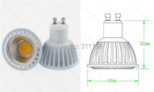 Dimmable led light w gu led spotlight high power osram cob led