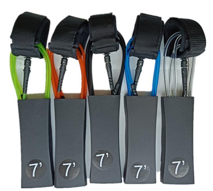 Mounchain Surf laisse 7 pieds 7mm unisexe planche de Surf laisse TPU corde épaisse planche à aubes pied sûr sangle pour Surf accessoires