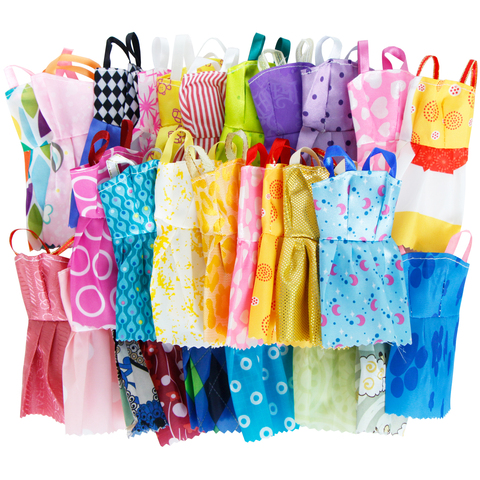 42 Item/Set Doll Accessories = 10Pcs Shoes + 8 Necklace 4 Glasses 2 Crowns 2 Handbags + 8 Pcs Doll Dress Clothes for Barbie Doll Karachi