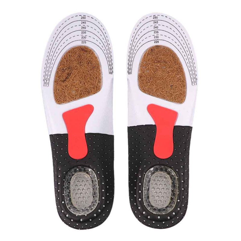 Soft Breathable Sweat Shock Absorb Insoles Comfort Foot Athletic Insole Sport Shoes Cushion Pad for Camping Hiking 7214