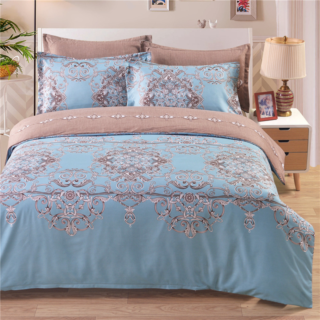 Comforter Bedding Set Well-made Polyester Reversible Duvet Cover Set Soft Duvet Cover & Pillowcase Sets Queen King Twin Size