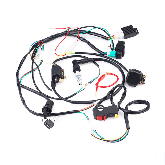 New Motorcycle Motorbike Full Electrics Wiring Harness Coil CDI ...