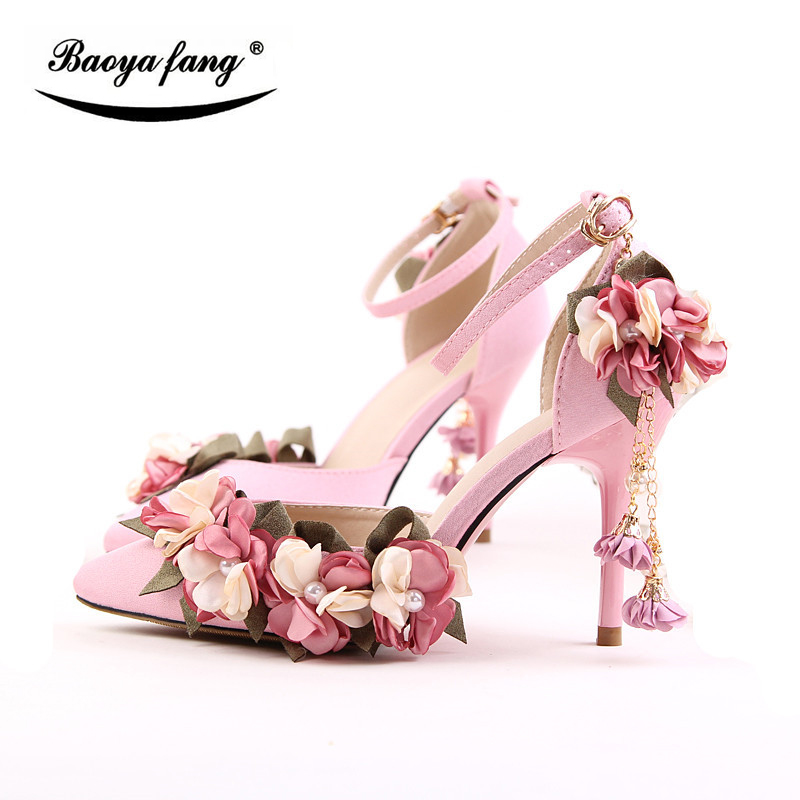 9cm thin heel Summer Sandals Women wedding shoes with matching bags pointed toe party shoes Bridal fashion shoes woman custom italianshoes with matching bags beading crystals multi styles bridal pump shoes high heel ladies shoes pumps for brides
