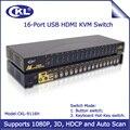 2017 ckl hdmi switch kvm 16 port auto usb kvm switcher para o Monitor Do PC Teclado e Mouse Do Computador Servidor NVR DVR 3D 1080 P CKL-9116H