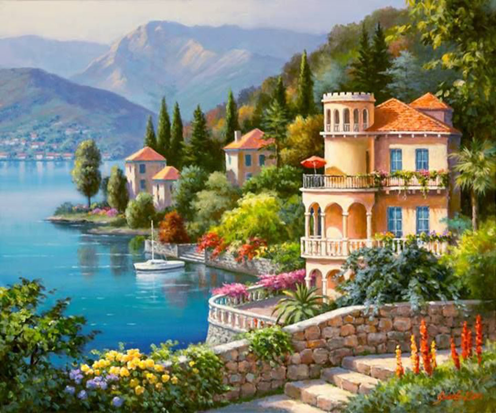 Popular mediterranean style landscape buy cheap for Mediterrane dekoration