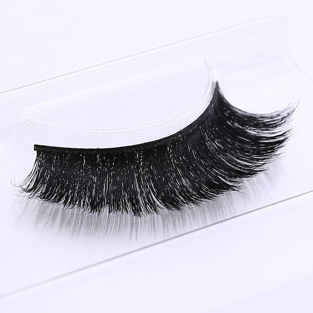 Beauty & Health Have An Inquiring Mind Skonhed 1 Pair Eye Lashes 3d Real Horse Hair False Eyelashes Extension Makeup Cometics Tools #mt004 Beauty Essentials