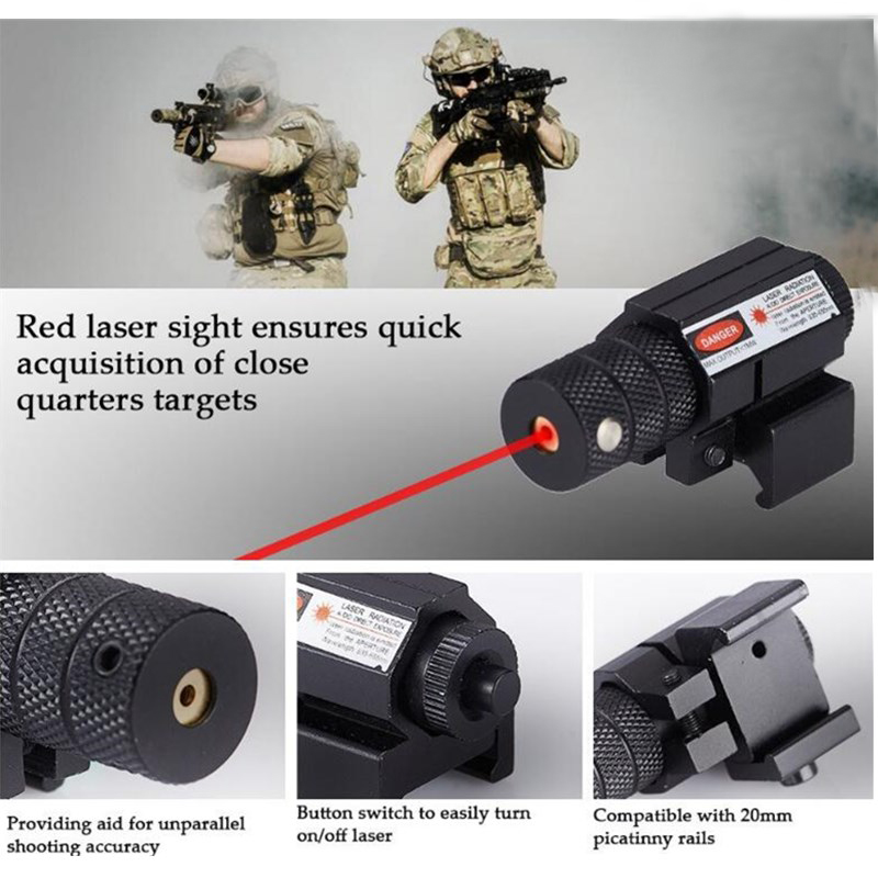 Hunting Laser for handguns and pistols Tactical Red Laser Sight Laser Pointer With Battery For Hunting Airsoft Gun AR 15