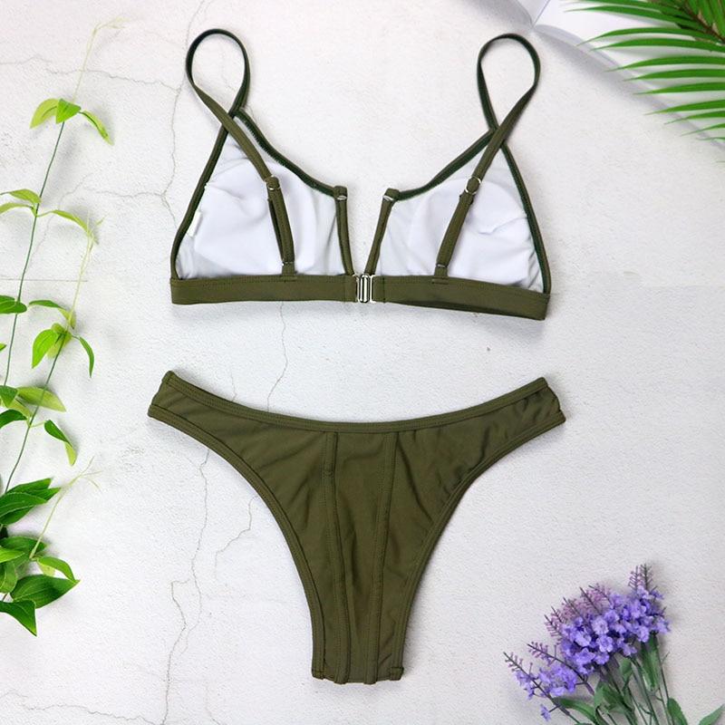 HTB1MbfAX5LrK1Rjy1zdq6ynnpXav Sexy Bandeau Bikinis 2019 New V Neck Bikini Swimsuits Push Up Swimwear Female Brazilian Bikini Set Bathing Suits Biquini 3418