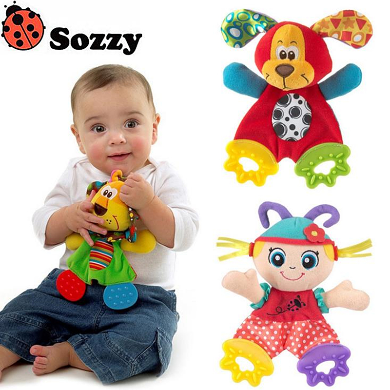 Sozzy Baby Toy Baby Mobiles sorozat Baby Plüss Teether Dollek szellemi fejlődés Emocionális megragadó érzékszervi játékszer #B