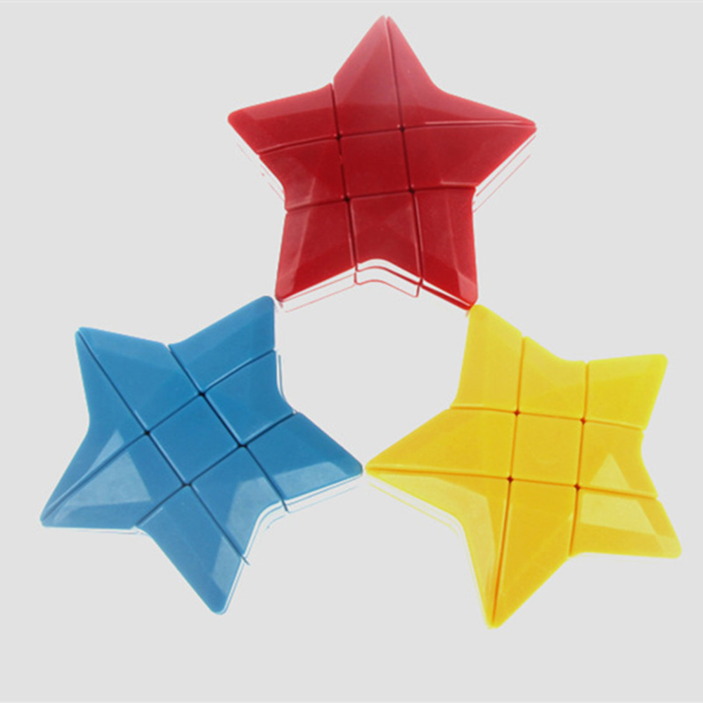 Puzzles & Games 3x3x3 Stickerless Star Shape Magic Cube Speed Puzzle Kids Educational Toys Special Toys